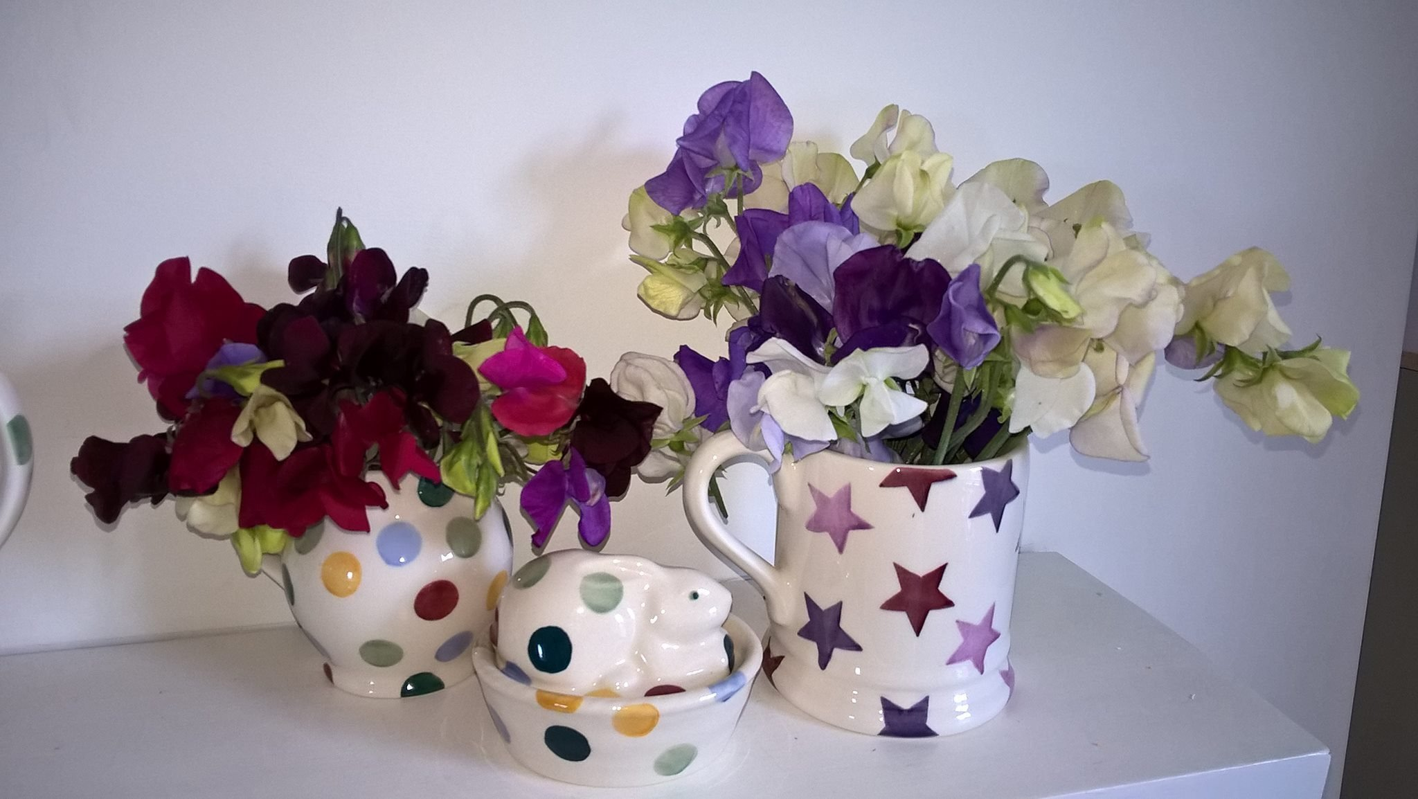 Sweet Peas and Purple Stars