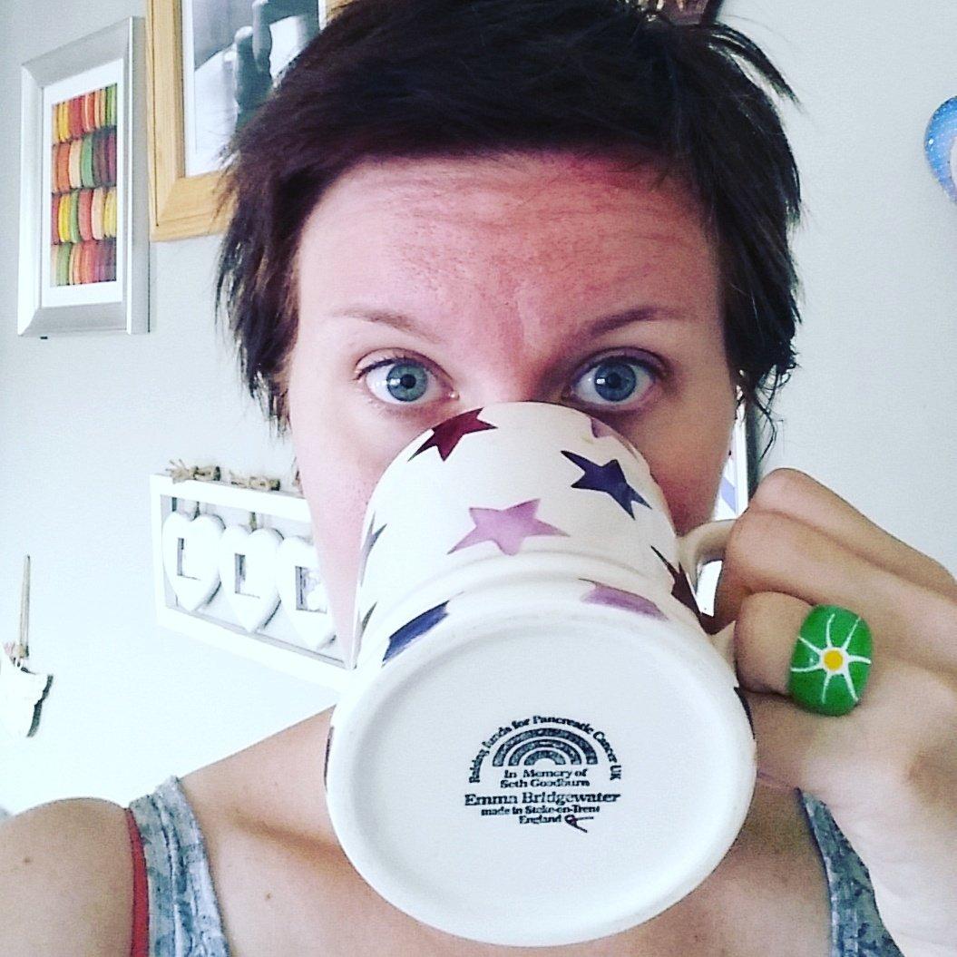 Nadia with her mug