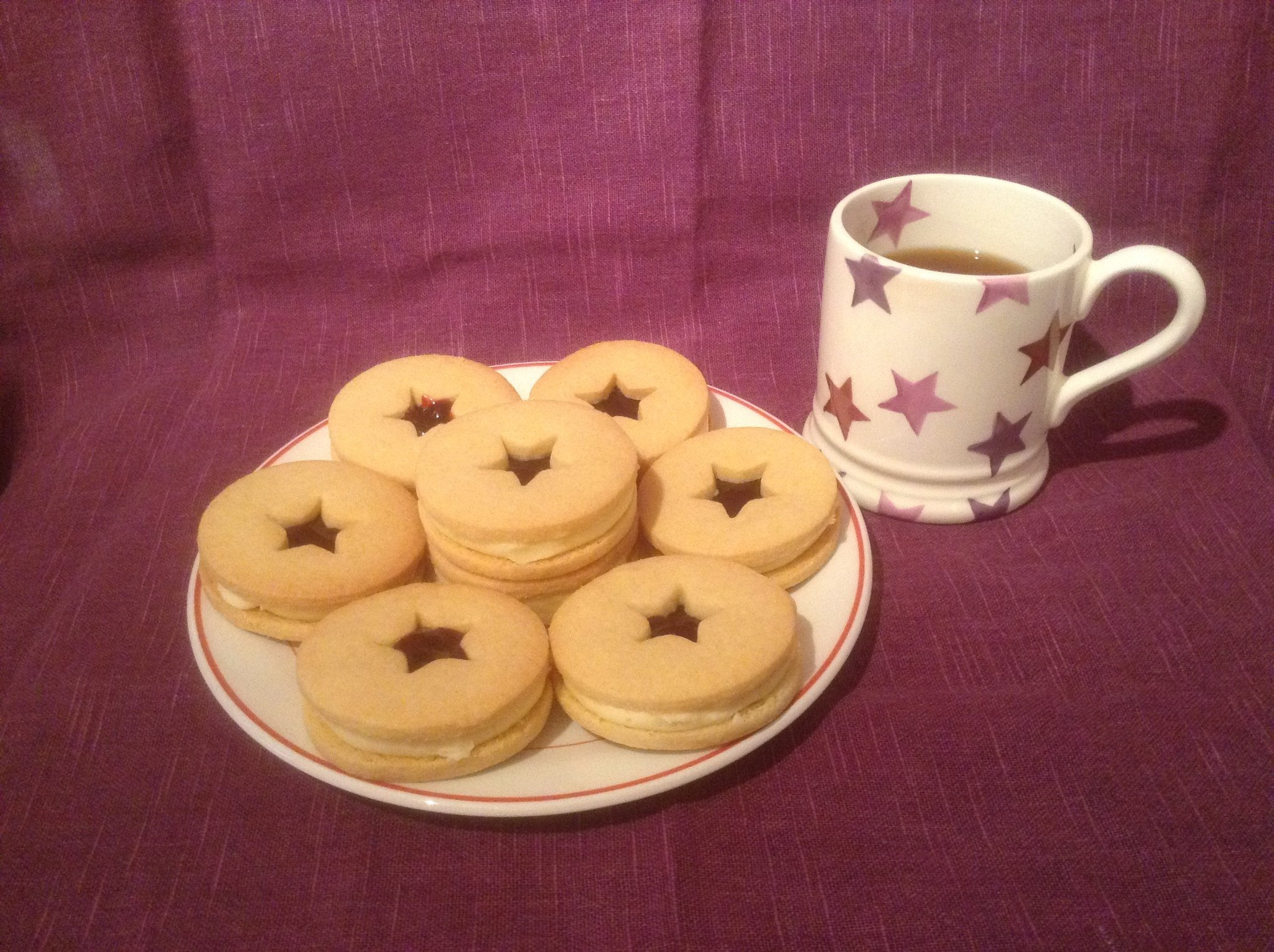 Purple Star Cakes to match our mug - Perfect