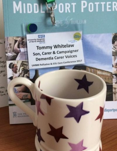 Tommy Whitelaw's mug as a thank you for speaking at a conference