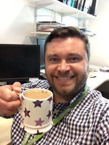 Christian and his mug