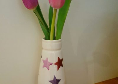 Purple Tulips and Purple stars
