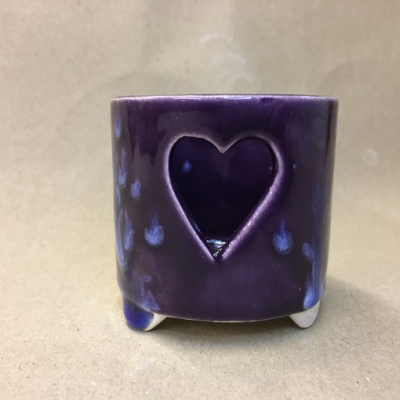 Purple Rainbow Tealight